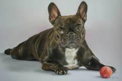 Bobbie door Genevieve Lumeij, Fine Art. Portret tekening met pastelpotlood of pastelkrijt