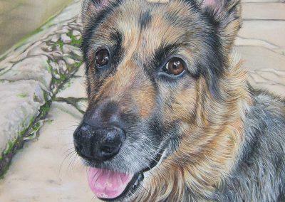 Kaylee door Genevieve Lumeij, Fine Art. Portret tekening met pastelpotlood of pastelkrijt