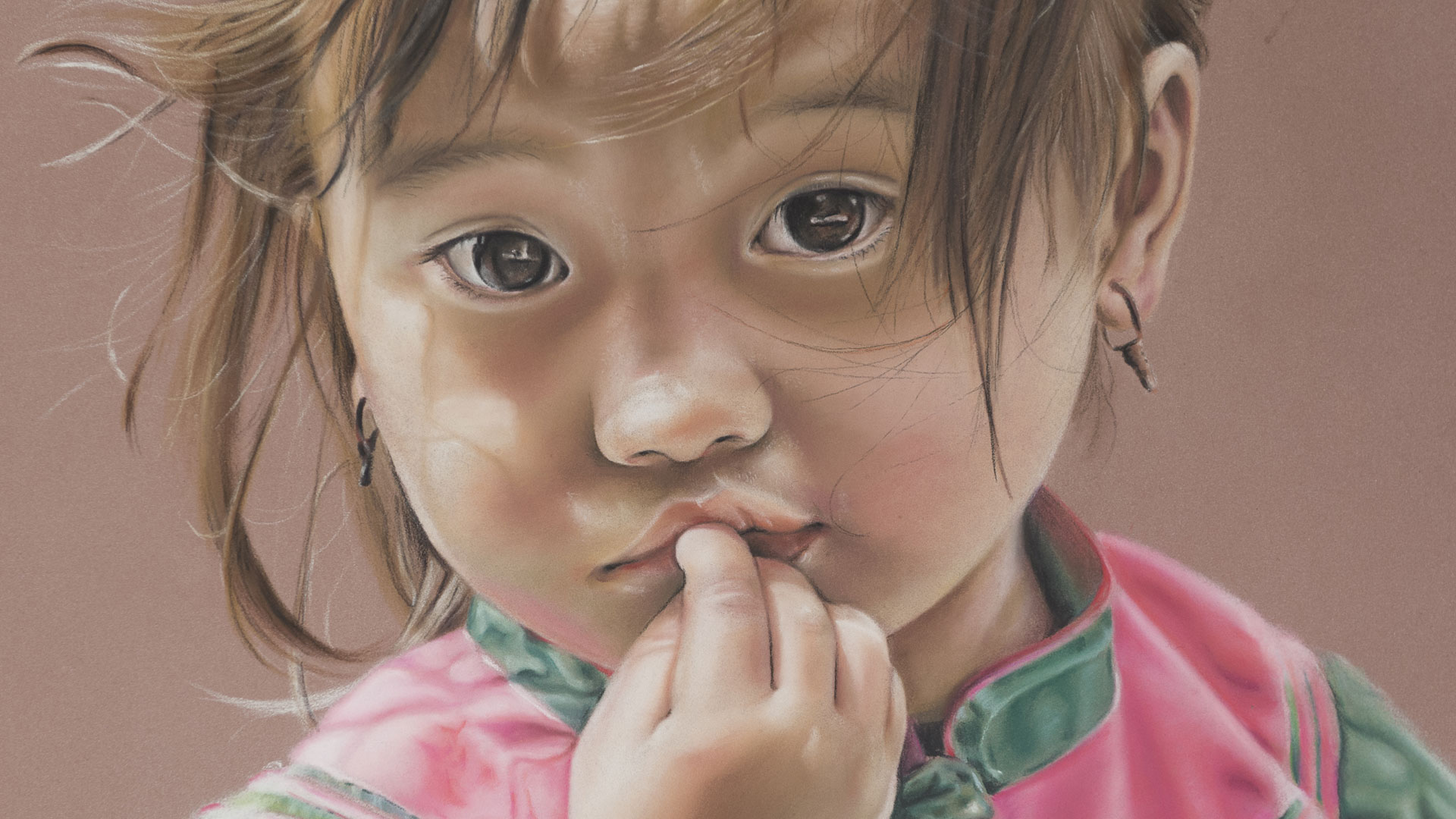 Genevieve Lumeij, Fine Art. Portret tekening in pastelkrijt