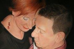 Patrick & Aneta door Genevieve Lumeij, Fine Art. Portret tekening met pastelpotlood of pastelkrijt